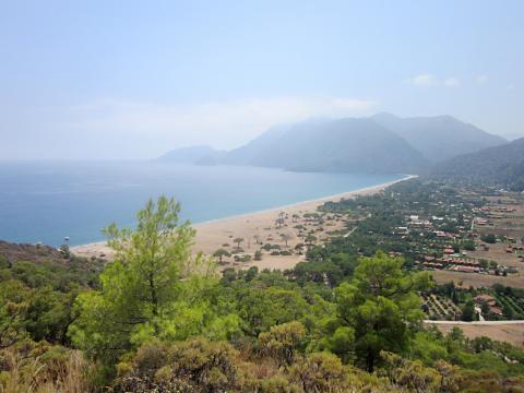 Blick auf den Strand von Cirali