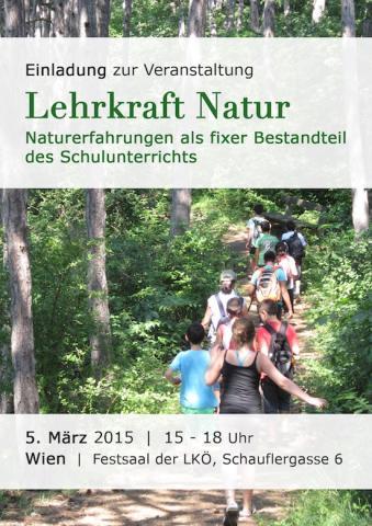 Einladung Veranstaltung 'Lehrkraft Natur' am 5.3.2015