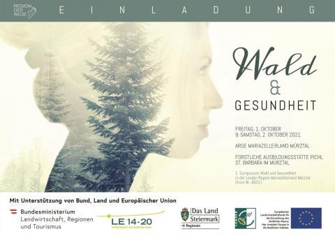 Programmfolder Symposium 'Wald und Gesundheit'